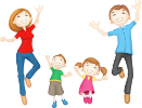 Папа мама и ребенок, родители и дети